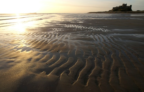 Big, deserted, sands.
