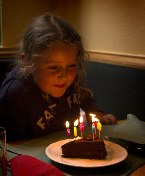 Nobody can resist a cake with candles...