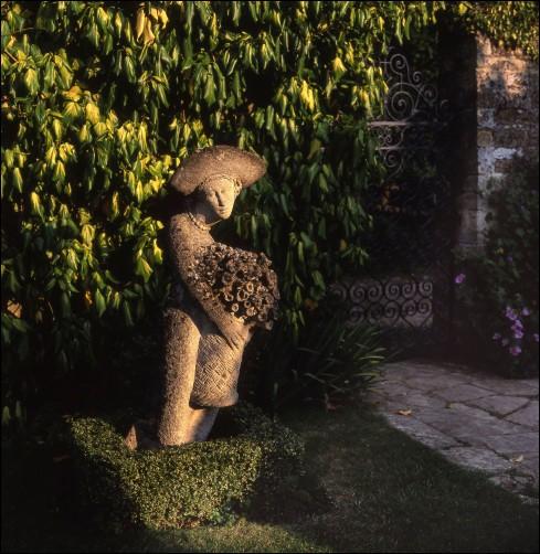 Hidden statues in the garden