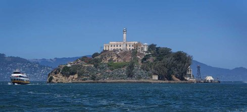 Alcatraz in the sun