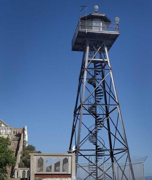 The watchtower, in summer sun