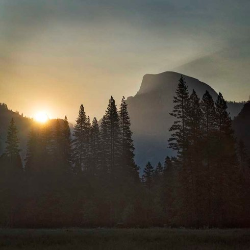 Dawn breaks in Yosemite