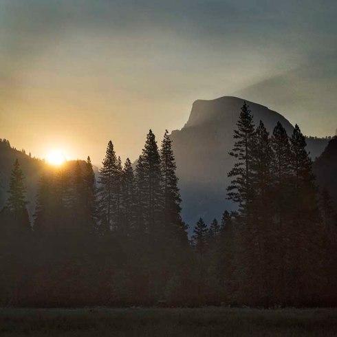 Dawn breaks in Yosemite