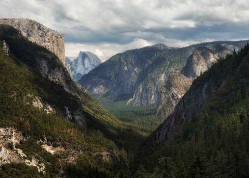 Midday Half Dome from Wawona Road