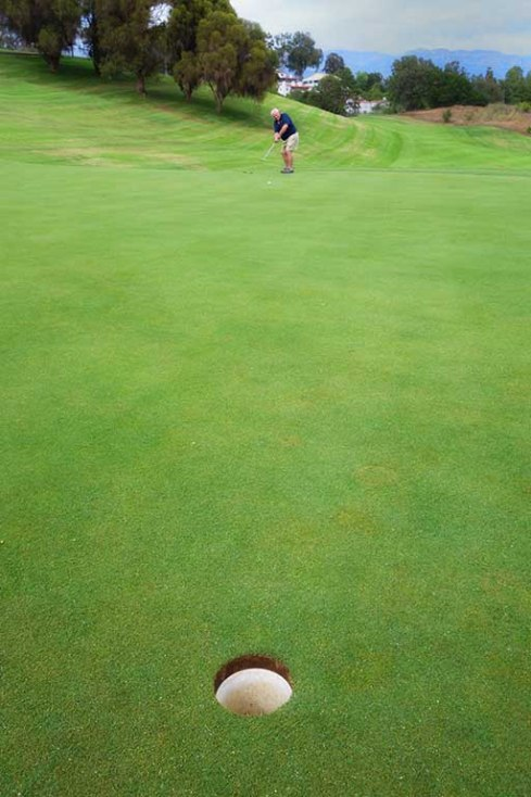 45 ft putt, and GD gets it in!